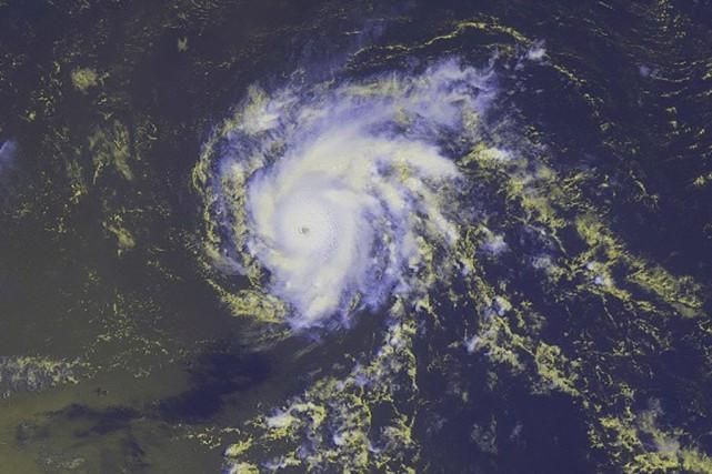 «Dannyest un ouragan majeur», a indiqué leCentre national... (PHOTO REUTERS/NOAA)