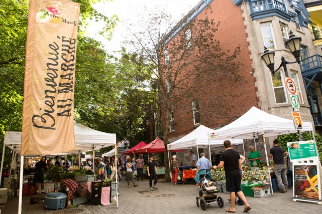 Le marché public de la rue Prince-Arthur se... (PHOTO NINON PEDNAULT, LA PRESSE)