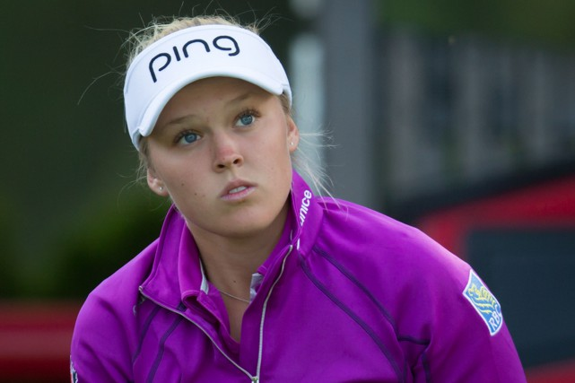 Brooke Henderson... (Photo Darryl Dyck, La Presse Canadienne)