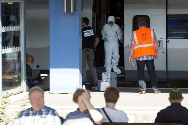 Le suspecta été identifié par divers éléments matériels,... (Photo Virginia Mayo, AP)