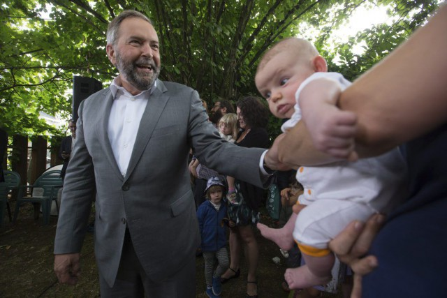 Le chef du NPD, Thomas Mulcair.... (La Presse Canadienne, Darryl Dyck)