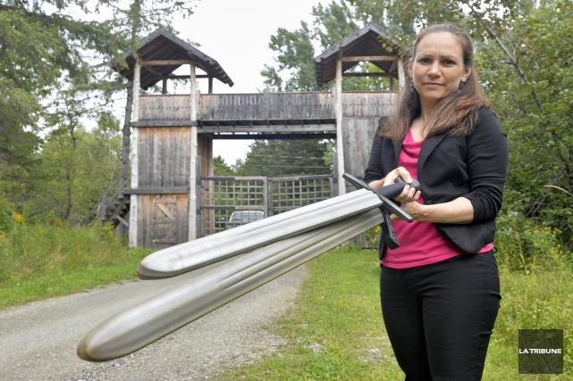 La directrice générale du Camp Val-Estrie, Josianne Arès,... (IMACOM, Maxime Picard)