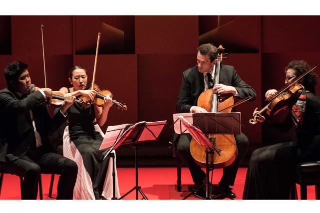 Le Quatuor Verona en concert hier soir à... (PHOTO MARIE-PIERRE TREMBLAY, FOURNIE PAR L'ACADÉMIE DE McGILL)