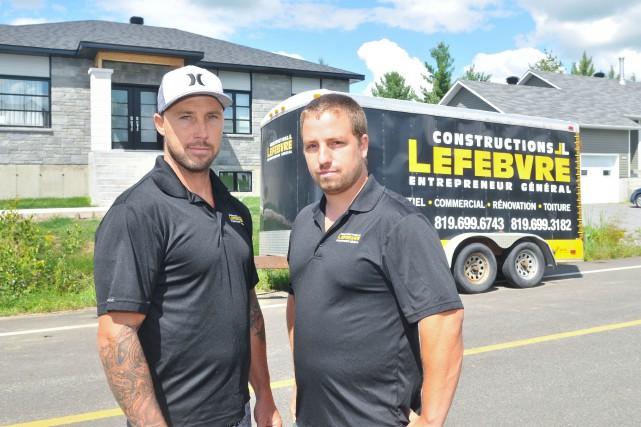Jason et Luc Lefebvre, propriétaires de l'entreprise Constructions...