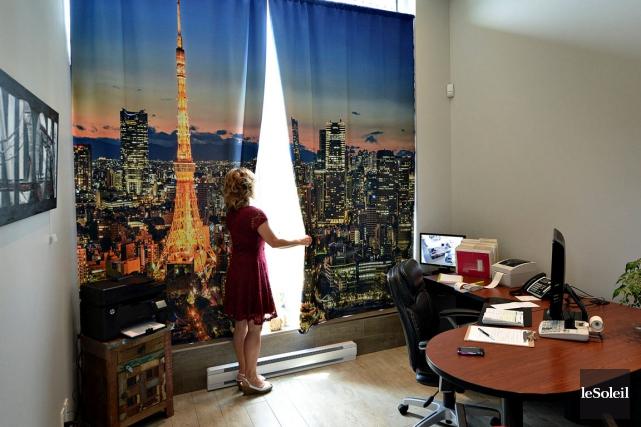 Ces rideaux «3D» donnent une impression de relief... (Le Soleil, Patrice Laroche)