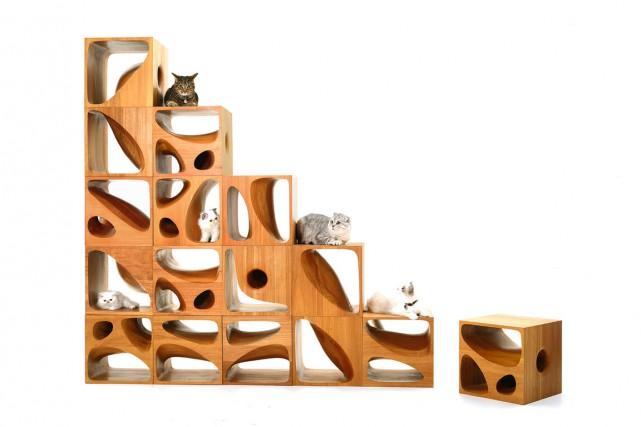 La firme d'architecture chinoise LYCS Architecture a conçu du mobilier à la... (Photo tirée de Twitter)
