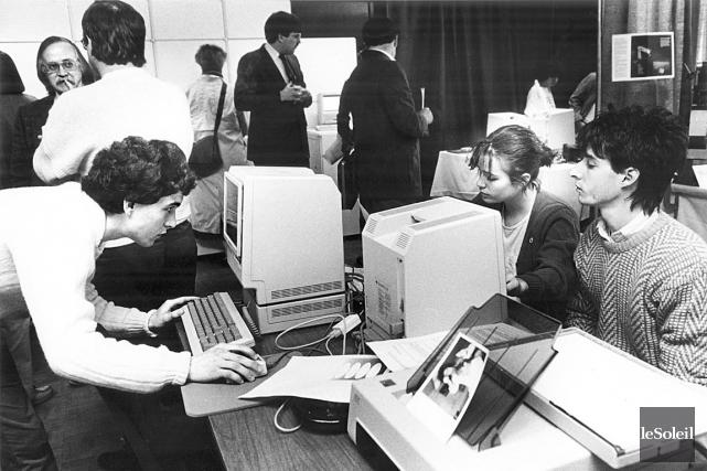 En 1987, le Club Macintosh de Québec, le... (Photothèque Le Soleil)