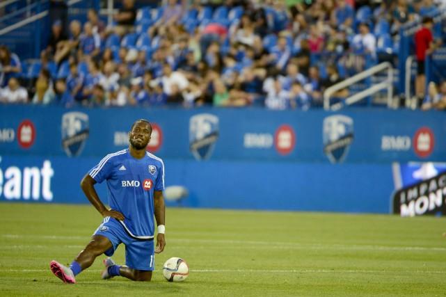 Didier Drogbaa finalement fait ses débuts officiels dans... (PHOTO CHARLES LABERGE, COLLABORATION SPÉCIALE)
