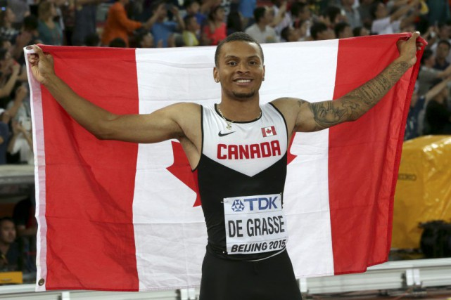 mondiaux andre de grasse r colte le bronze bolt champion lori ewing athl tisme. Black Bedroom Furniture Sets. Home Design Ideas