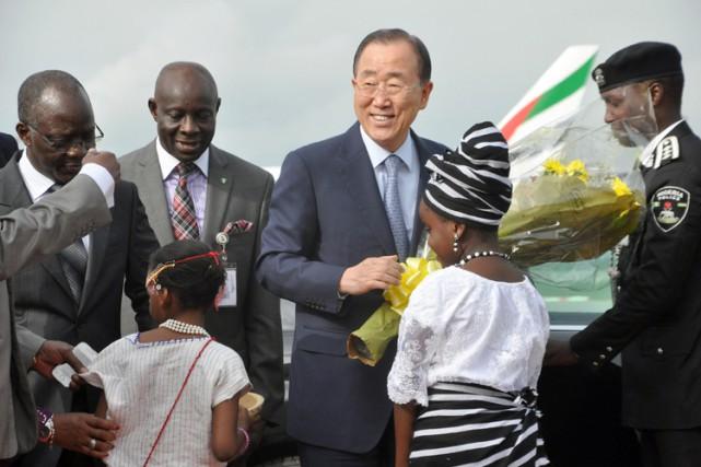L'avion du secrétaire général de l'ONU a atterri... (PHOTO AFP)