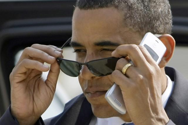 Le président américain, dont le deuxième mandat s'achève... (Photo archives AP)