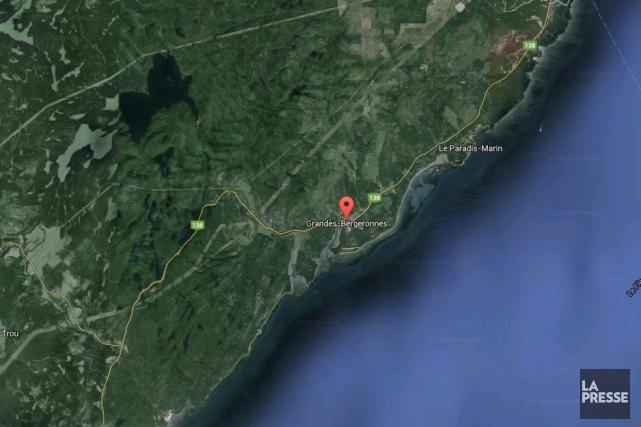 Un hydravion de la compagnie Air Saguenay s'est écrasé dimanche dans un secteur... (Photo tirée de Google Maps)