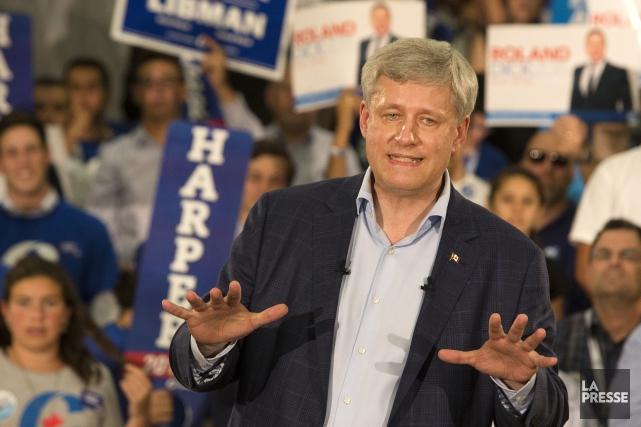 Le chef du Parti conservateur du Canada, Stephen... (Photo: La Presse)