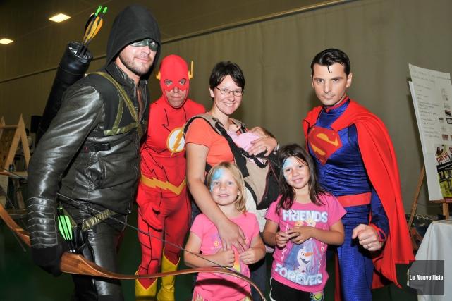 Quelques superhéros qui ont participé à la journée... (Photo: Émilie O'Connor Le Nouvelliste)