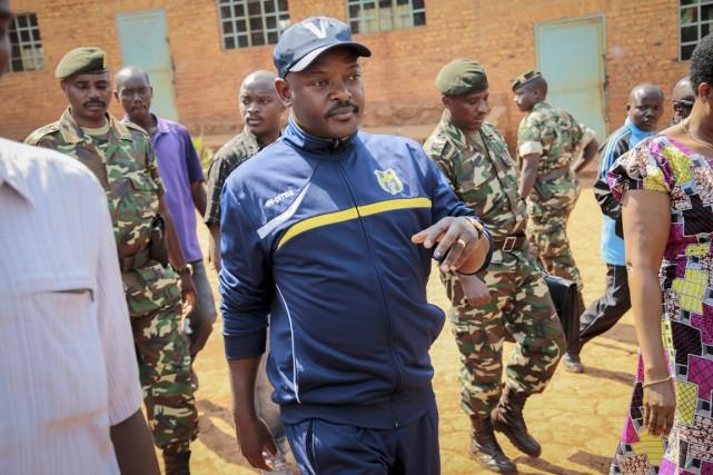 Le président Nkurunziza, au pouvoir depuis 2005, a... (PHOTO BERTHIER MUGIRANEZA, ARCHIVES AP)
