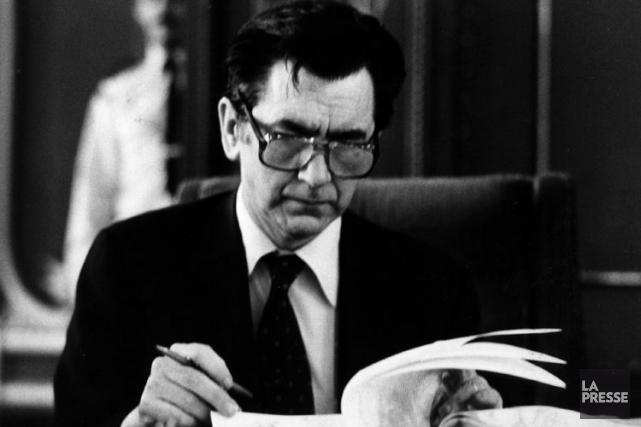 Camille Laurin àl'Assemblée nationaleen juin 1977,peu de temps... (Archives La Presse)