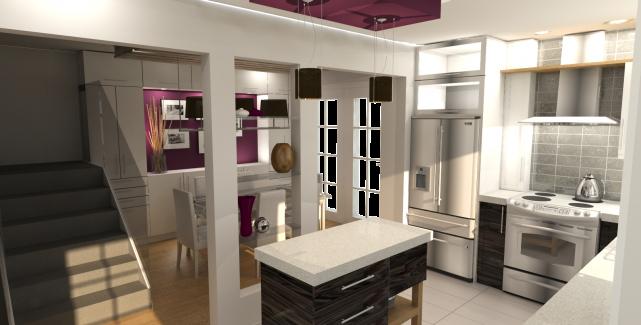 Visualisation 3D d'un projet de rénovation d'une cuisine.... (BRICC)