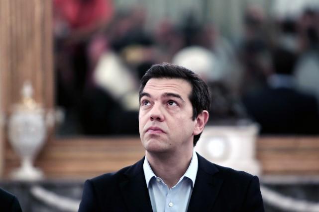 L'ancien premier ministre grec Alexis Tsipras... (PhotoANGELOS TZORTZINIS, Agence France-Presse)