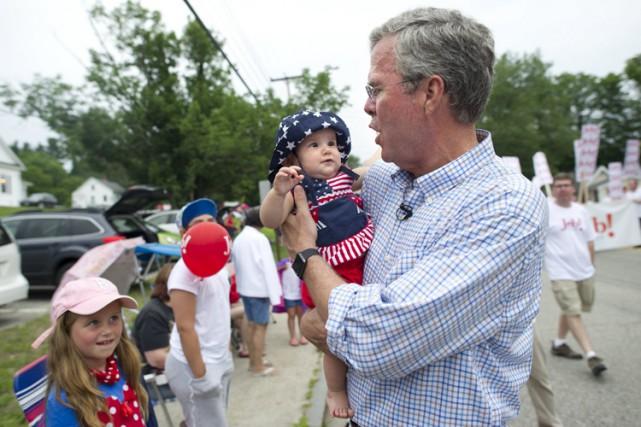 Jeb Bush lors d'un évènement de campagne au... (PHOTO REUTERS)