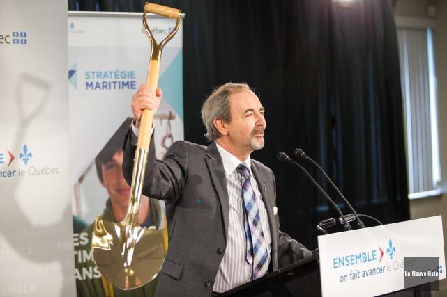 Le maire de Bécancour, Jean-Guy Dubois, est heureux... (Photo: Olivier Croteau Le Nouvelliste)