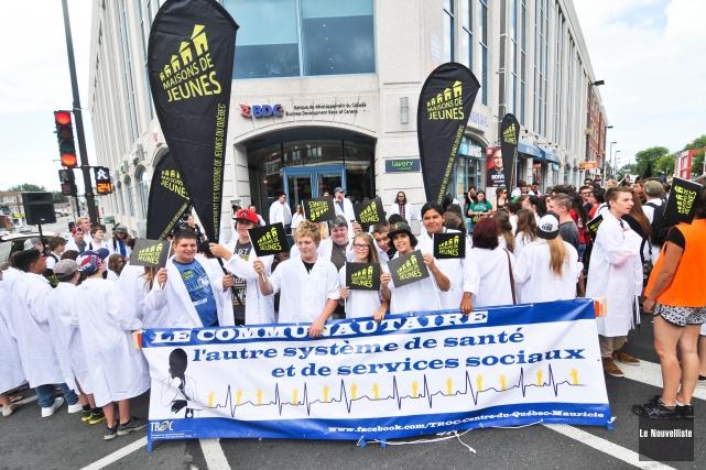 Ils étaient près de 200 adolescents, de La... (Photo: Émilie O'Connor Le Nouvelliste)