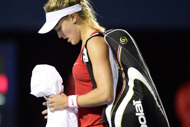 Eugenie Bouchard.... (Photo La Presse Canadienne)