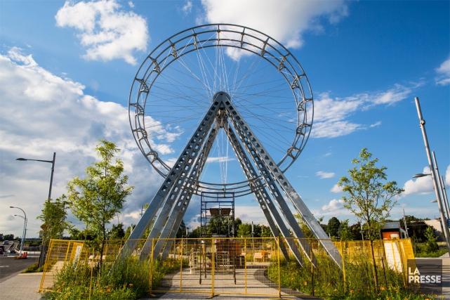 Le 19septembre, BGL inaugurera son oeuvre d'art public, La vélocité des... (PHOTO ÉDOUARD PLANTE-FRÉCHETTE, LA PRESSE)
