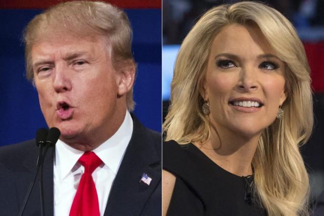 Donald Trump et Megyn Kelly.... (AP)