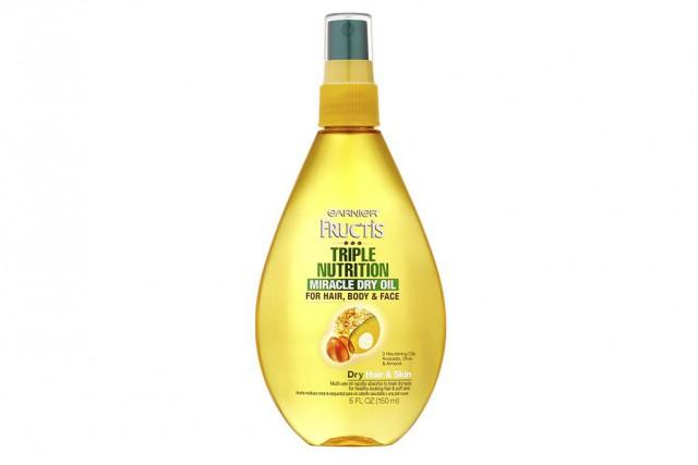 L'huile sèche Nutrition Miracle Dry Oil pour la... (Photo fournie par Garnier Fructis)