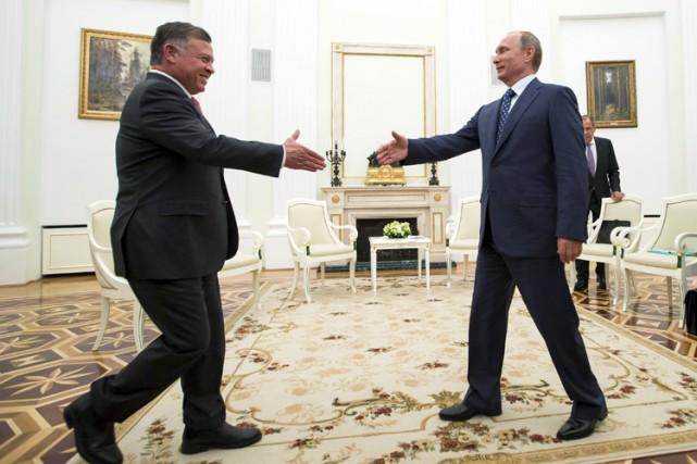 Le roi Abdallah II de Jordanie a rencontré... (PHOTO REUTERS)