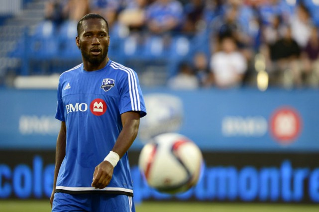 Didier Drogba... (PHOTO CHARLES LABERGE , COLLABORATION SPECIALE)