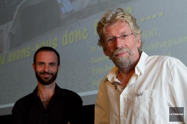 Dr François Lamontagne et Dr Christophe Clément... (IMACOM, René Marquis)