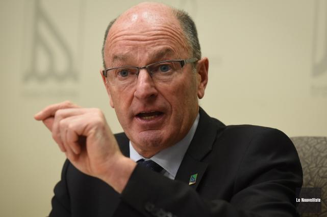 Le maire de Trois-Rivières, Yves Lévesque, est revenu... (Photo: François Gervais Le Nouvelliste)
