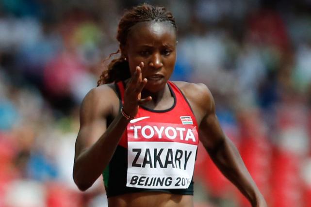 La coureuse de 400 mètres kényane Joyce Zakary.... (Photo Lucy Nicholson, Reuters)