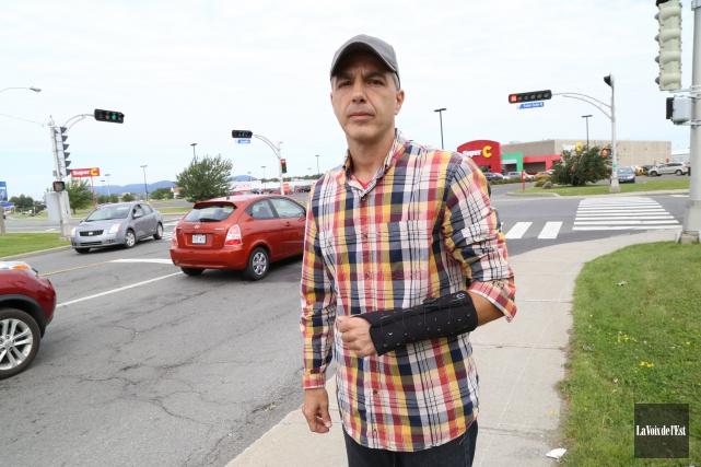 Stéphane St-Onge se remet de ses blessures après... (photo Janick Marois, La Voix de l'Est)