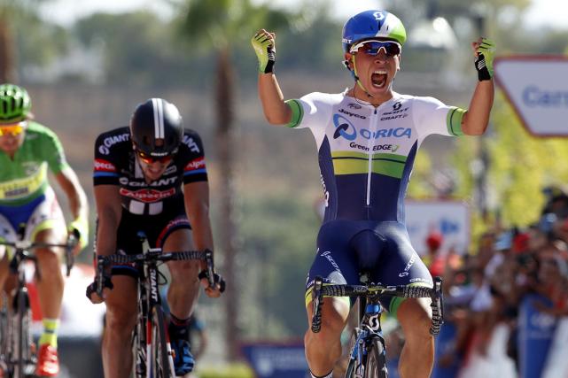 L'Australien Caleb Ewan a remporté au sprint la... (Photo Jose Jordan, AFP)