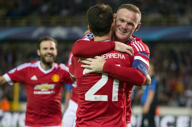 Wayne Rooney a inscrit son premier triplé depuis... (PHOTO AFP)