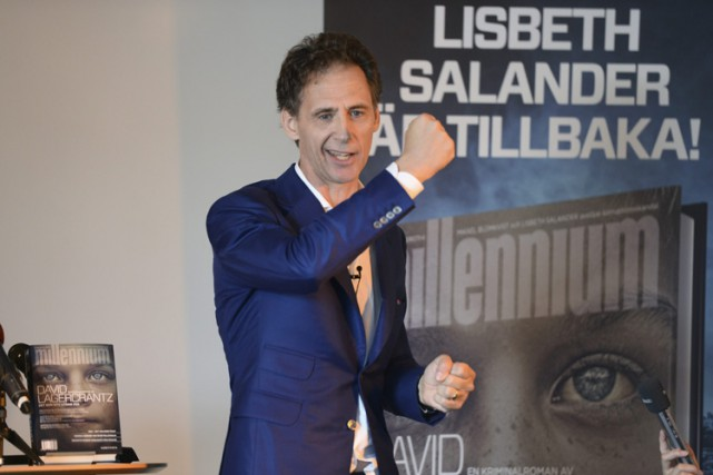 L'auteur David Lagercrantz.... (PHOTO AP)