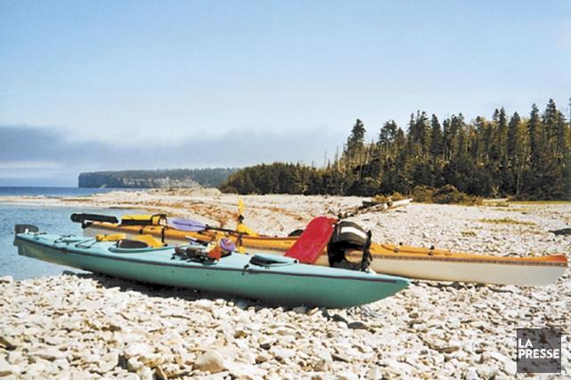 Quatre kayakistes en situation difficile mercredi après-midi au large de l'île... (ARCHIVES LA PRESSE)
