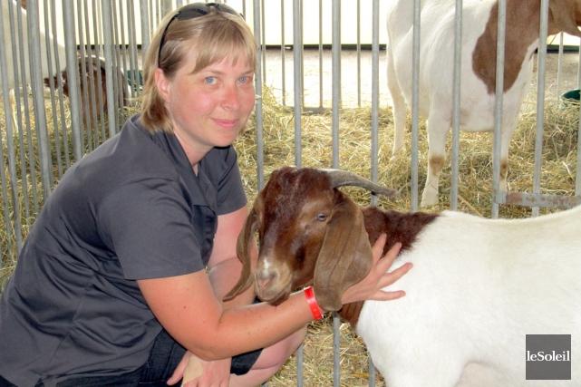 Sylvie Dionne, nouvelle présidente de la Société d'agriculture... (Le Soleil Yves Therrien)