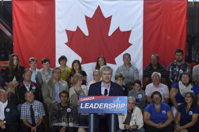 Le premier ministre du Canada Stephen Harper en...