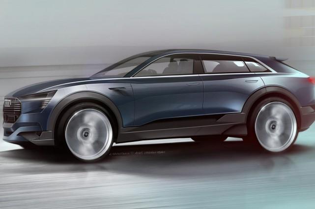 Le VUS électrique de Audi sera dévoilé en... (PHOTO FOURNIE PAR AUDI)