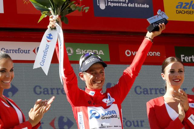 Le Colombien Johan Esteban Chaves a remportéjeudi sa... (Photo Jose Jordan, AFP)