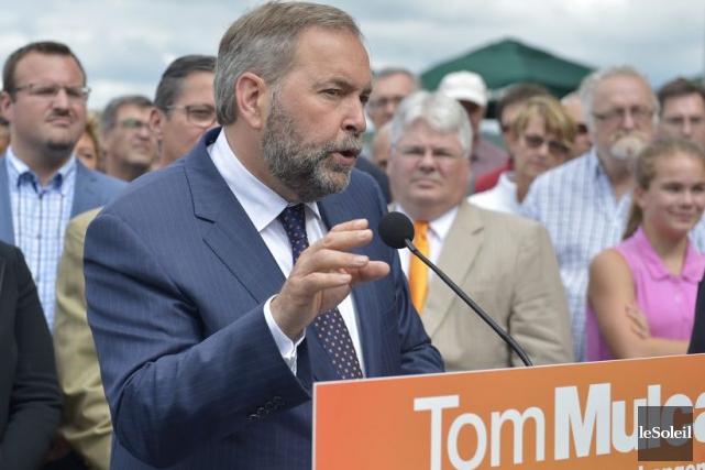 Thomas Mulcair, chef du Nouveau Parti démocratique... (Photothèque Le Soleil, Yan Doublet)