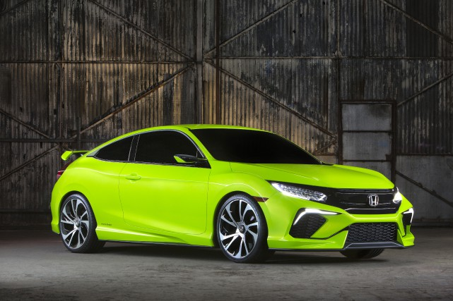 Le prototype de la Honda Civic coupé dévoilé... (PHOTO FOURNIE PAR HONDA)