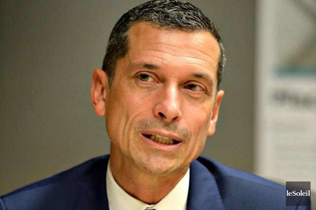 De passage au Soleil, Bernard Tremblay, président-directeur général... (Le Soleil, Patrice Laroche)