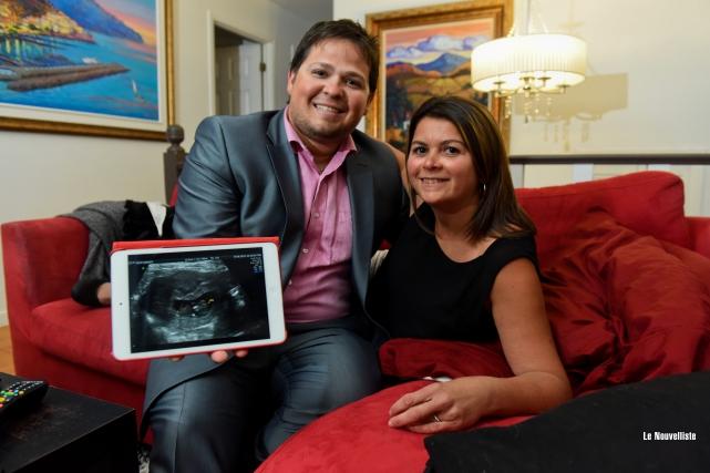 Chantal Simard et Louis-Charles Dubuc attendent un enfant... (Photo: François Gervais Le Nouvelliste)