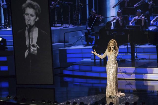 Le retour de Céline Dion était visiblement attendu... (La Presse Canadienne)