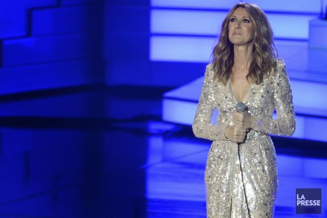 Céline Dion lors de retour au Colosseum de... (PHOTO BERNARD BRAULT, ARCHIVES LA PRESSE)