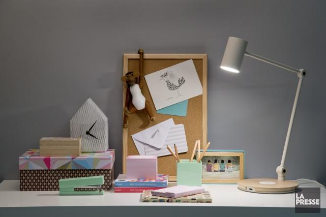 De jolis accessoires de bureau pour un retour à l'école qui a de la classe! (PHOTO DAVID BOILY, LA PRESSE)